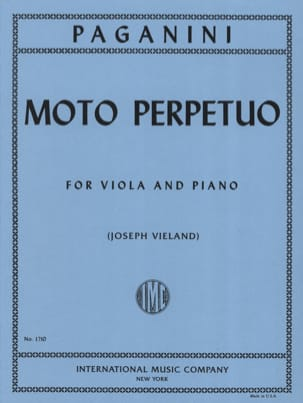 Moto perpetuo - Viola PAGANINI Partition Alto - laflutedepan