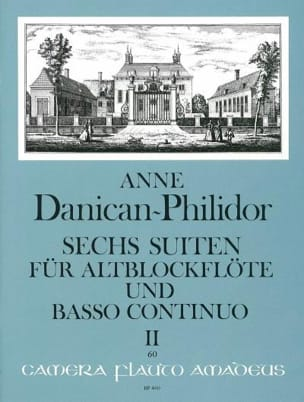 6 Suites Vol.2 Anne Danican-Philidor Partition laflutedepan