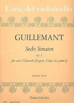 6 Sonates op. 3 - 2 Violoncelles Benoit Guillemant laflutedepan