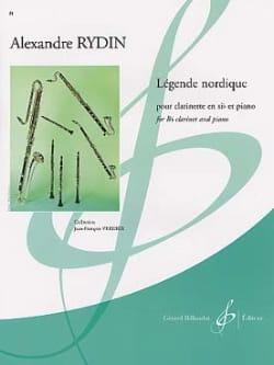 Légende nordique Alexandre Rydin Partition Clarinette - laflutedepan