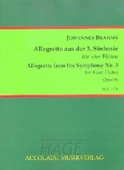 Allegretto de la 3ème symphonie BRAHMS Partition laflutedepan