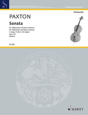 Sonata op. 3 n° 3 - Violoncelle et BC Stephen Paxton laflutedepan