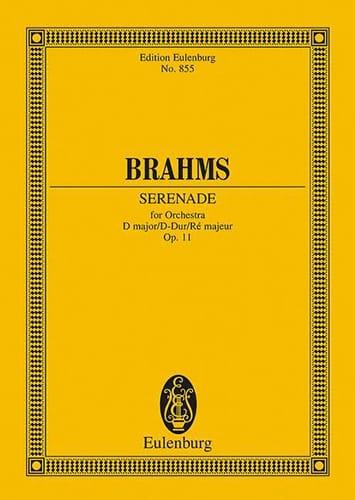 Serenade D-Dur D-Dur - BRAHMS - Partition - laflutedepan.com