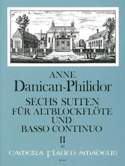 6 Suites Vol.2 - Anne Danican-Philidor - Partition - laflutedepan.com