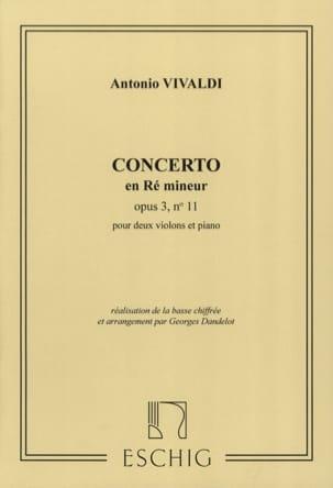 Concerto ré mineur op. 3 n° 11 -2 Violons VIVALDI laflutedepan