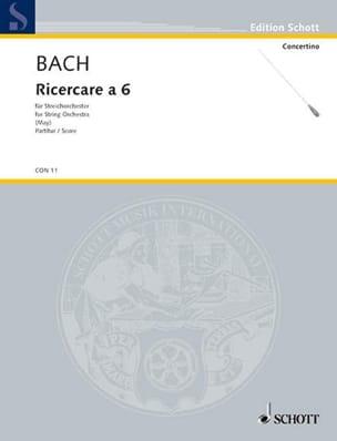 Ricercare a 6 BWV 1079 - Conducteur - BACH - laflutedepan.com