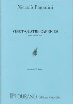 24 Caprices PAGANINI Partition Violon - laflutedepan