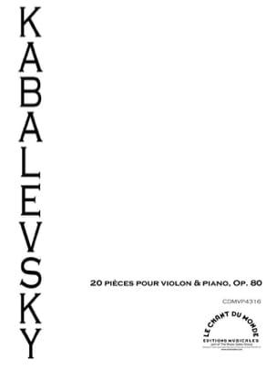 20 Pièces op. 80 Dimitri Kabalevski Partition Violon - laflutedepan