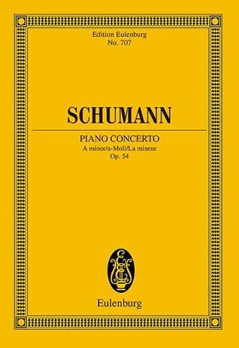 Klavier-Konzert a-moll - SCHUMANN - Partition - laflutedepan.com