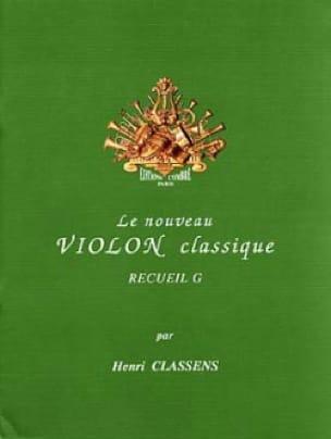 Le Nouveau Violon Classique Volume G - CLASSENS - laflutedepan.com