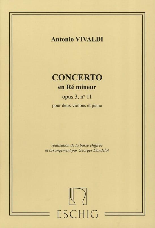 Concerto ré mineur op. 3 n° 11 -2 Violons - laflutedepan.com