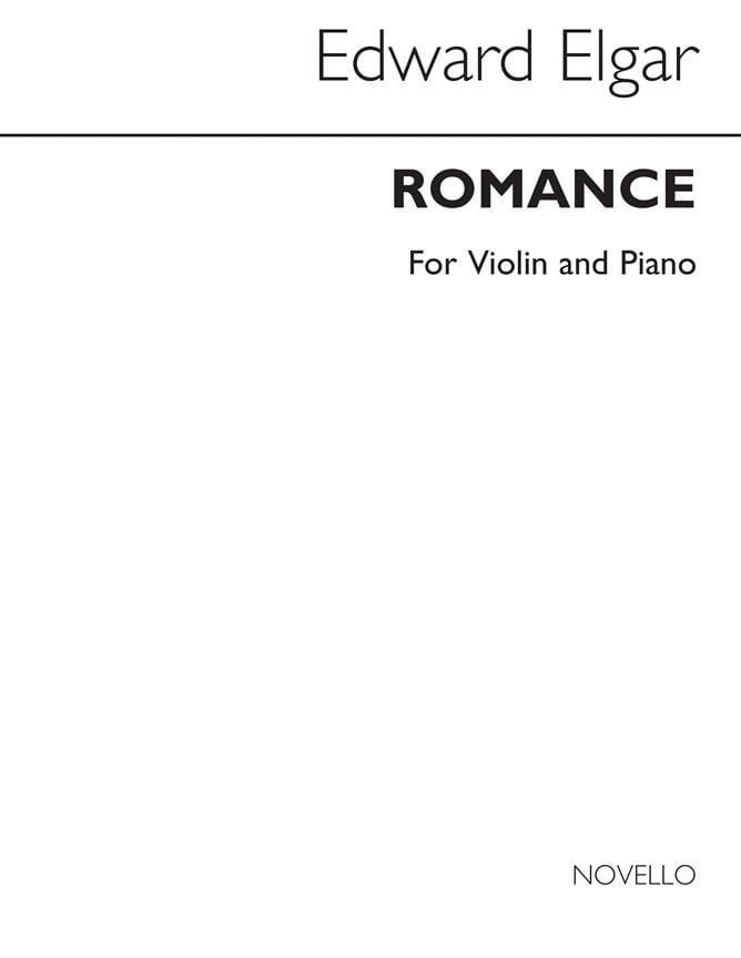 Romance op. 62 -Cello piano - ELGAR - Partition - laflutedepan.com