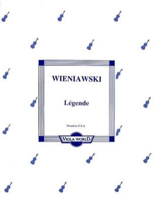 Légende - Viola WIENAWSKI Partition Alto - laflutedepan