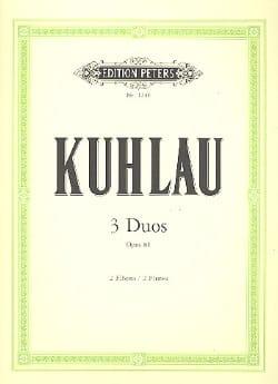 3 Duos op. 81 - 2 Flöten Friedrich Kuhlau Partition laflutedepan