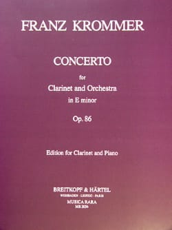 Concerto op. 86 in E minor KROMMER Partition Clarinette - laflutedepan