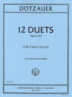 12 Duets op. 63 Friedrich Dotzauer Partition laflutedepan