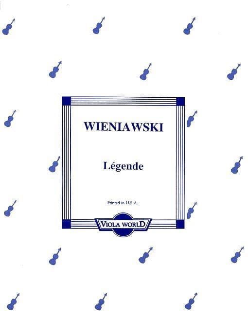 Légende - Viola - WIENAWSKI - Partition - Alto - laflutedepan.com