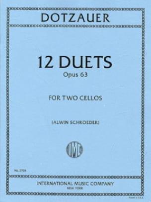 12 Duets op. 63 - Friedrich Dotzauer - Partition - laflutedepan.com
