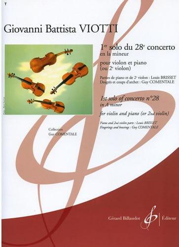 1er Solo du Concerto n° 28 - VIOTTI - Partition - laflutedepan.com