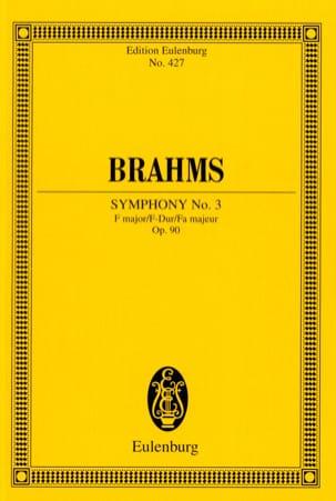 BRAHMS - Symphony No. 3 F Major Op. 90 - Conductor - Partition - di-arezzo.com
