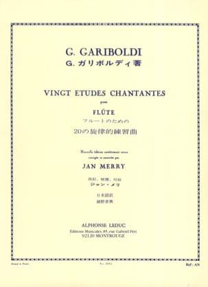 20 Etudes chantantes op. 88 GARIBOLDI Partition laflutedepan