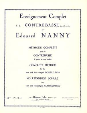 Méthode Complète de Contrebasse Volume 2 Edouard Nanny laflutedepan