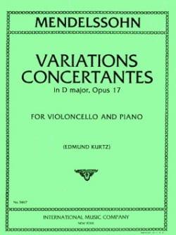 MENDELSSOHN - Variaciones concertadas en re mayor, op. 17 - Partition - di-arezzo.es