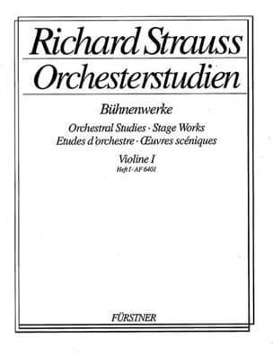 Orchesterstudien, Violon 1 Heft 1 Richard Strauss laflutedepan