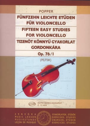15 Etudes Faciles Vol .1 Op. 76 N° 1 David Popper laflutedepan