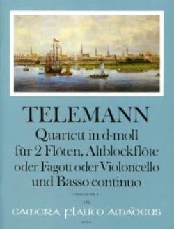 Quatuor en ré mineur pour 3 Flûtes et BC TELEMANN laflutedepan