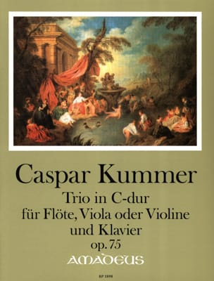 Gaspard Kummer - Trio, op. 75 - Flute, Viola or Violin and piano - Partition - di-arezzo.com