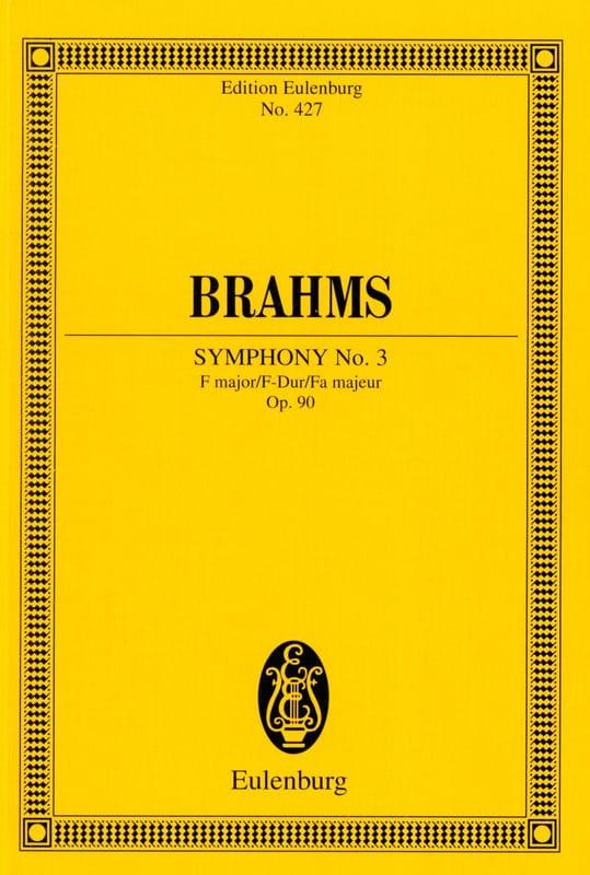 Symphonie N° 3 F Major Op. 90 - Conducteur - BRAHMS - laflutedepan.com