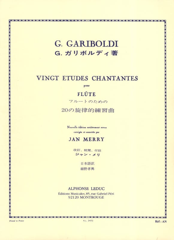 20 Etudes chantantes op. 88 - GARIBOLDI - Partition - laflutedepan.com