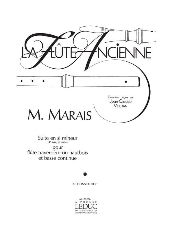 Suite en si mineur 4e Livre, 4e Suite - Flûte hautbois Bc - laflutedepan.com
