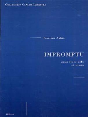 Impromptu - Francine Aubin - Partition - laflutedepan.com