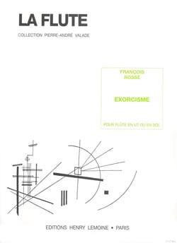 Exorcisme François Rossé Partition Flûte traversière - laflutedepan