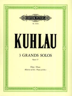3 Grands solos op. 57 Friedrich Kuhlau Partition laflutedepan