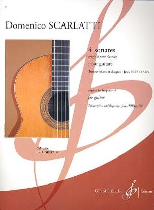 4 Sonates SCARLATTI Partition Guitare - laflutedepan