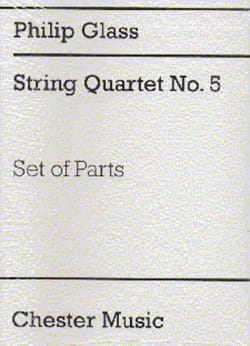 String Quartet N°5 - Parts - GLASS - Partition - laflutedepan.com