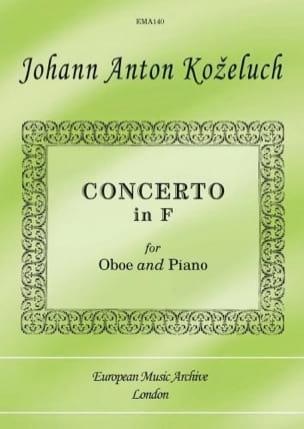 Concerto en Fa Johann Anton Kozeluch Partition Hautbois - laflutedepan