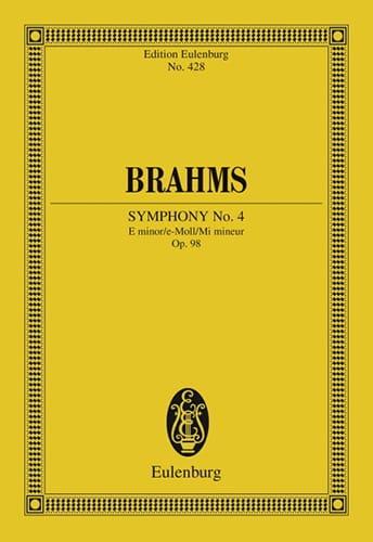 Symphonie N° 4 E Minor Op. 98 - Conducteur - BRAHMS - laflutedepan.com