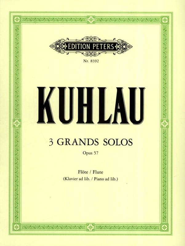 3 Grands solos op. 57 - Friedrich Kuhlau - laflutedepan.com