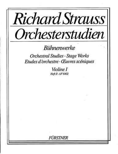 Orchesterstudien, Violon 1 Heft 2 - Richard Strauss - laflutedepan.com