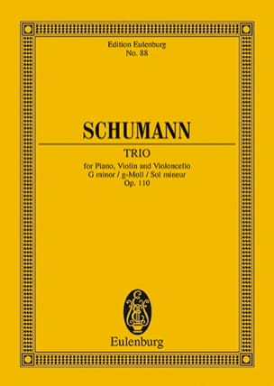 Klavier-Trio G-Moll Op. 110 - SCHUMANN - Partition - laflutedepan.com