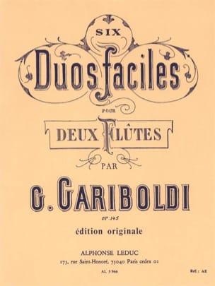 6 Duos Faciles, Op. 145 A - 2 Flutes GARIBOLDI Partition laflutedepan