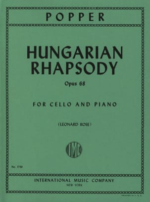 Hungarian Rhapsody op. 68 David Popper Partition laflutedepan