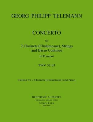 Concerto TWV 52 : D1 - 2 Clarinets Chalumeux piano laflutedepan