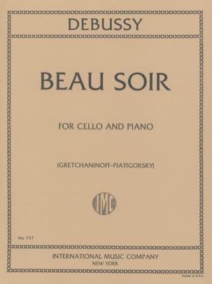 Beau Soir - DEBUSSY - Partition - Violoncelle - laflutedepan.com