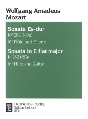 Sonate Es-Dur KV 282 - Flöte Gitarre MOZART Partition laflutedepan