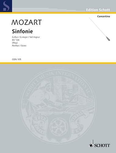 Symphonie G-Dur KV 124 - Partitur - MOZART - laflutedepan.com